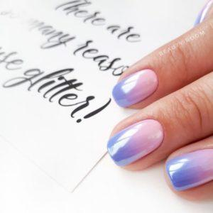 Holographic Powder Nails 43