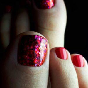 Chic Toe Nail Designs Classic Red